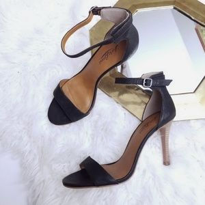 Lucky brand leather juliett ankle strap heels